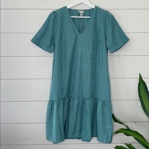 a new day teal short sleeve dress size XS